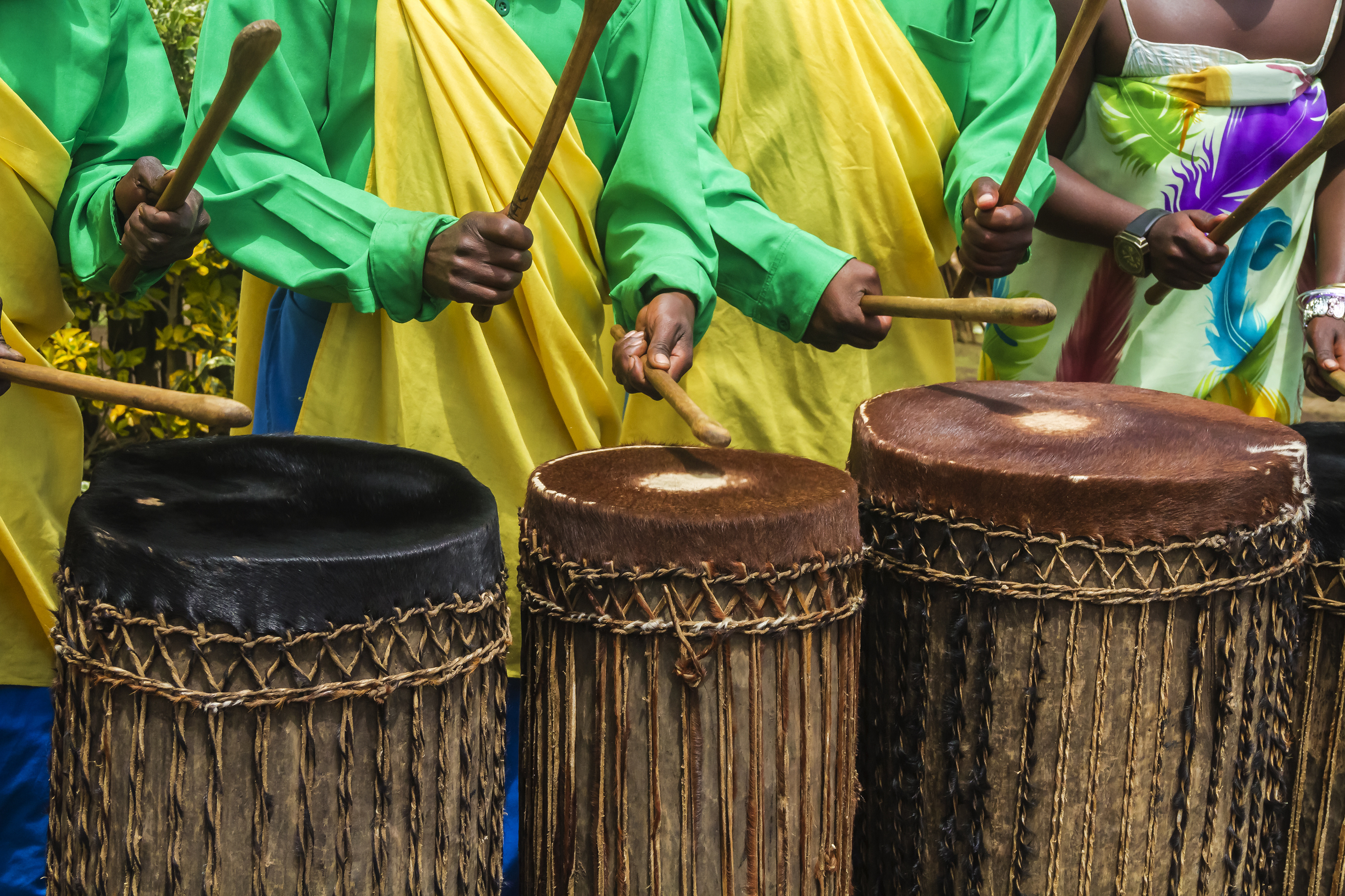 Detail of some african drummers