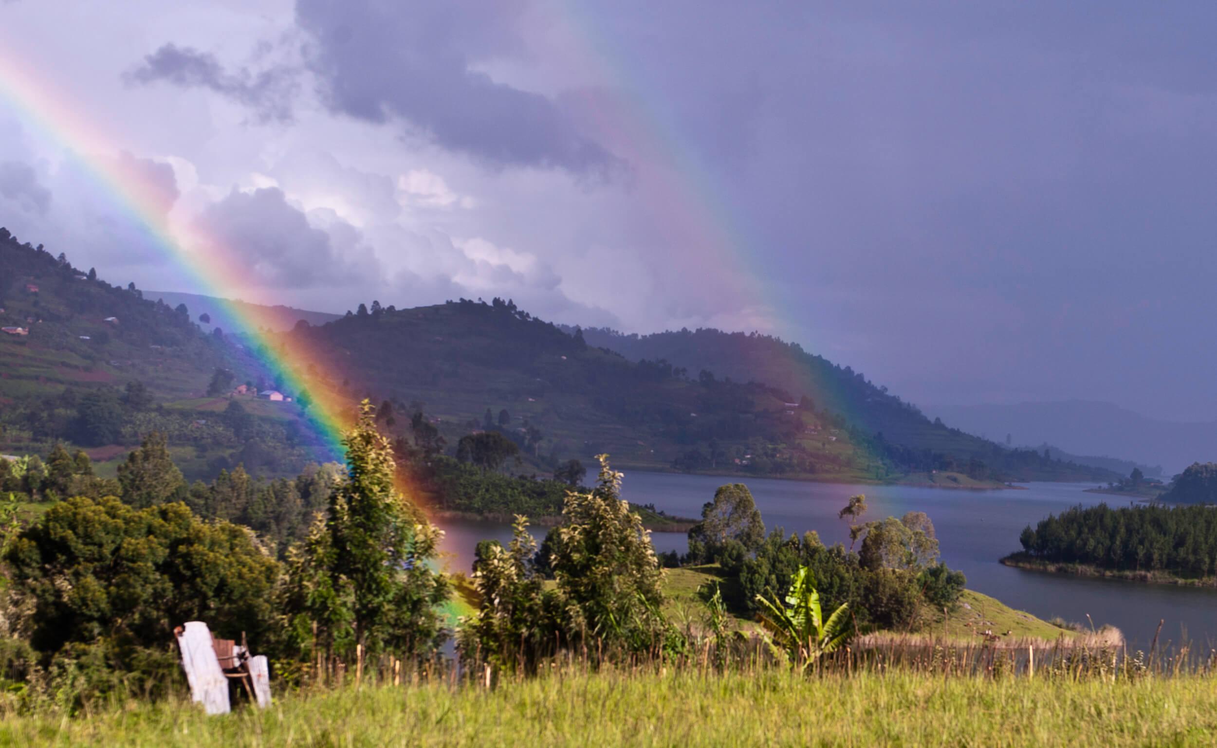 Rainbows at Bunyonyi