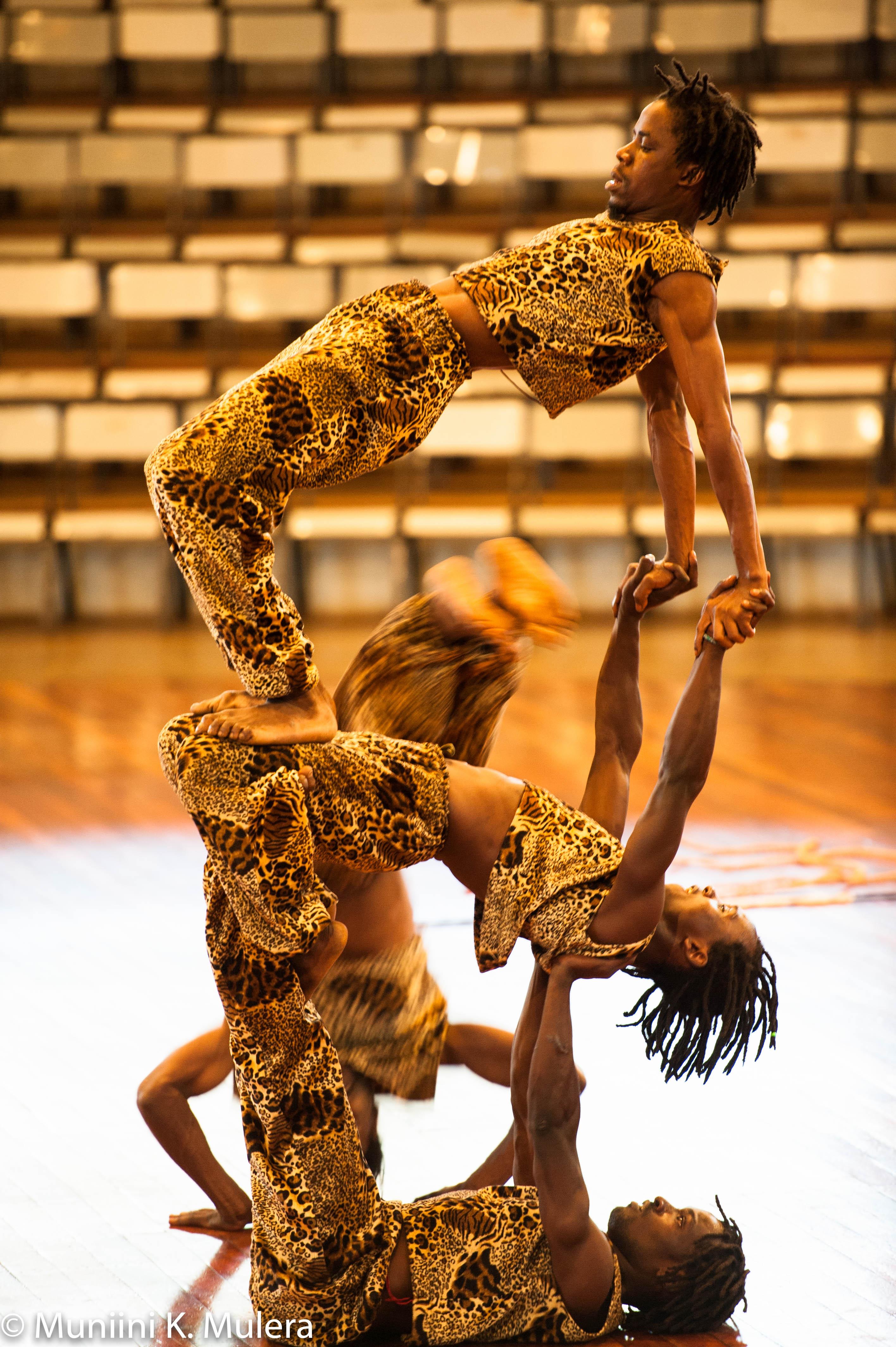 Bomas of Kenya male acrobats