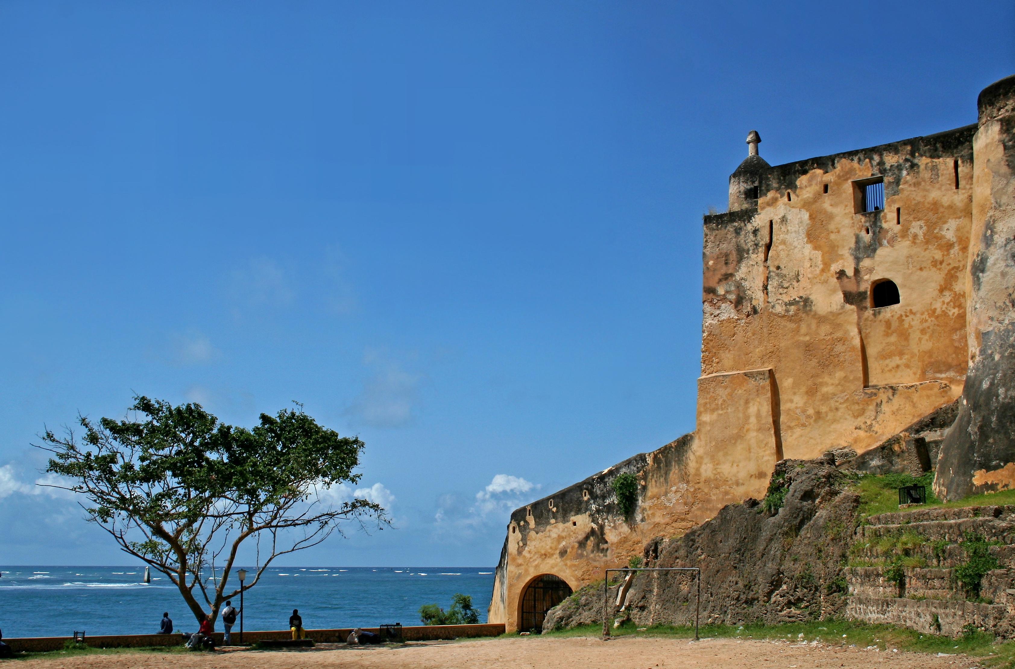 Fort Jesus in Mombasa, Kenia, 1593 erbaut von den Portugiesen; heute mit Nationalmuseum