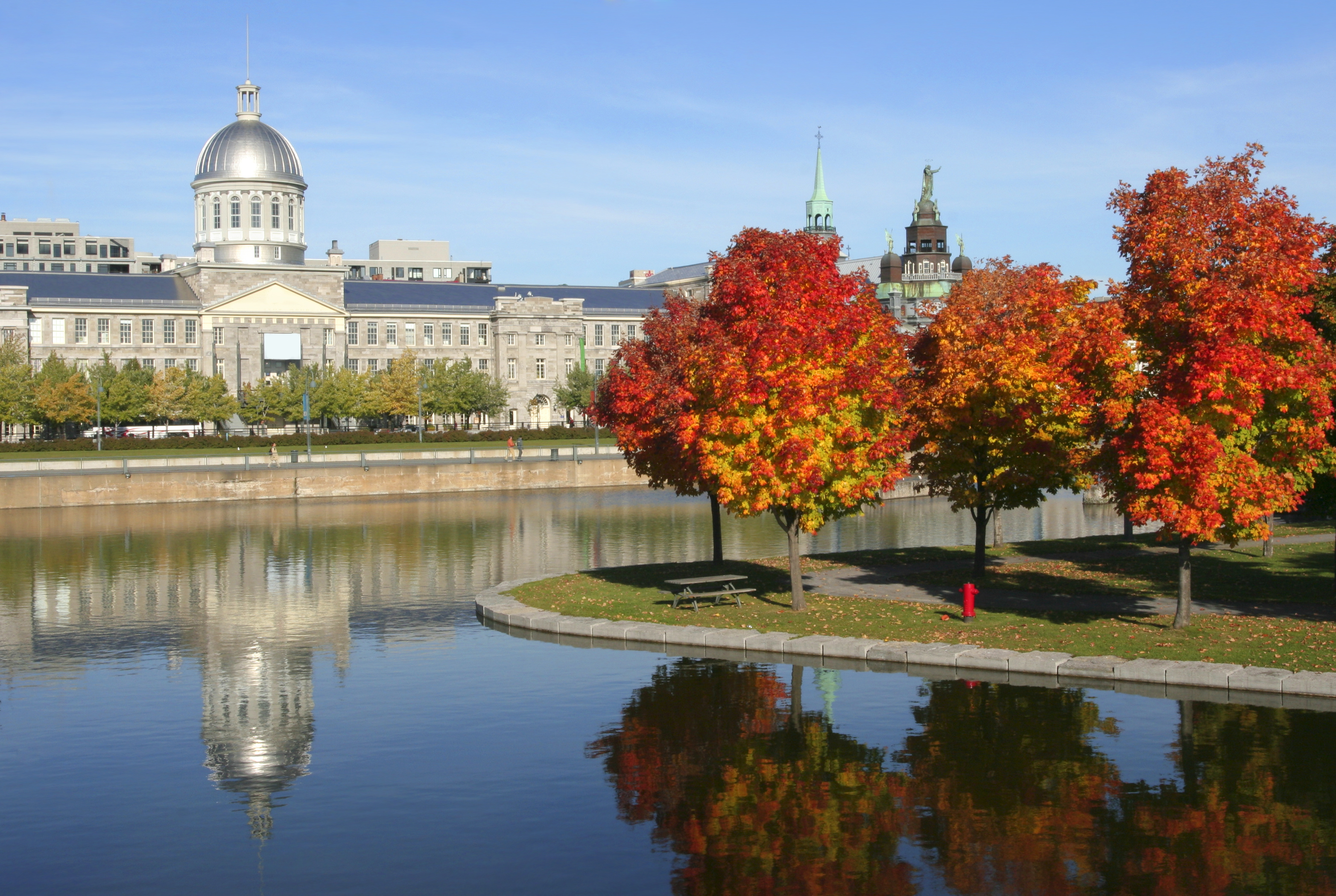 Old Montreal in autumn, Quebec, Canada