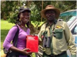 Byaruhanga Herbert with birdwatcher
