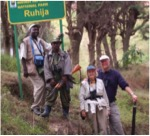 Byaruhanga with bird watchers