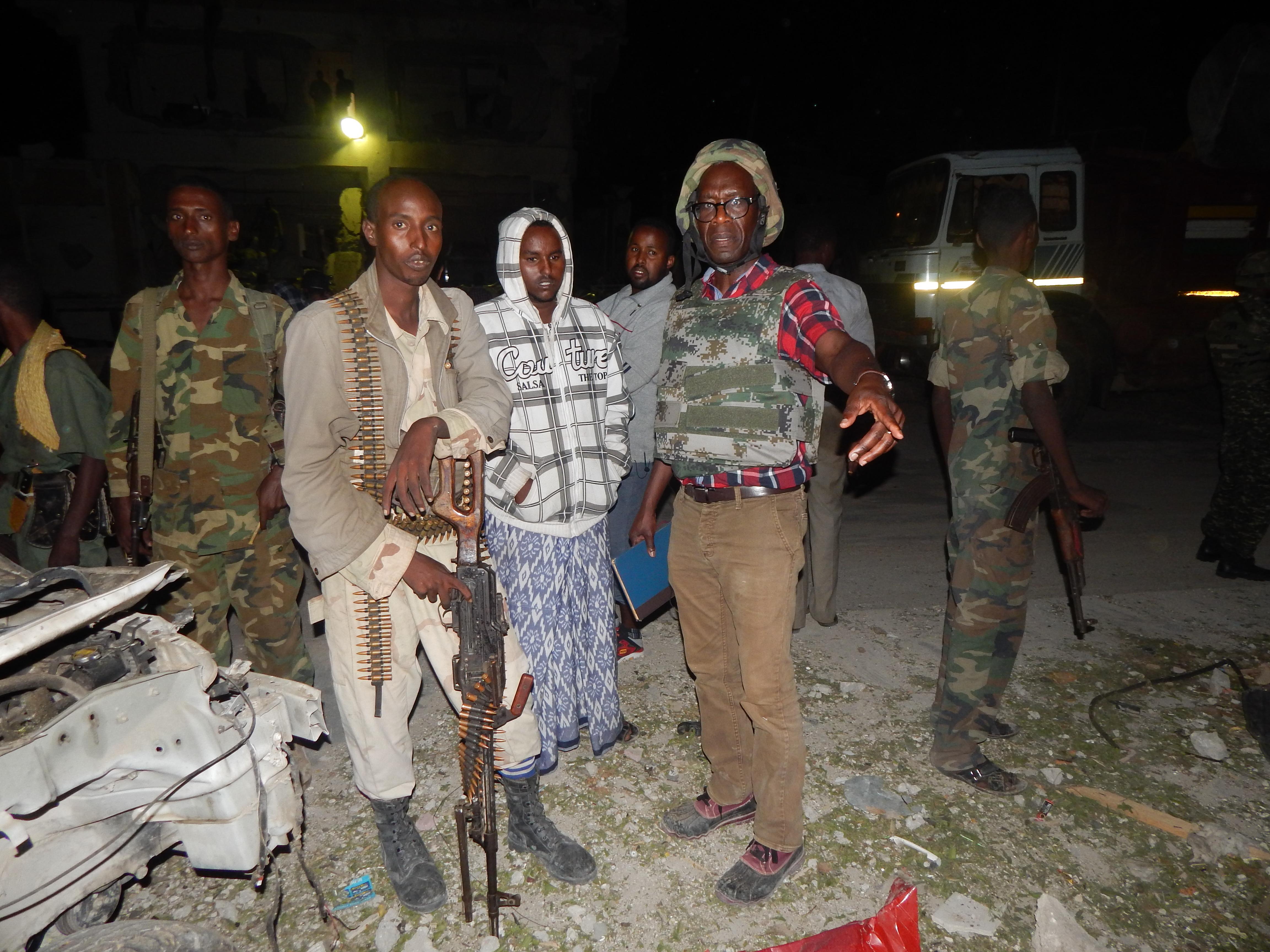 Opiyo at Suicide Bomb Scene Somalia