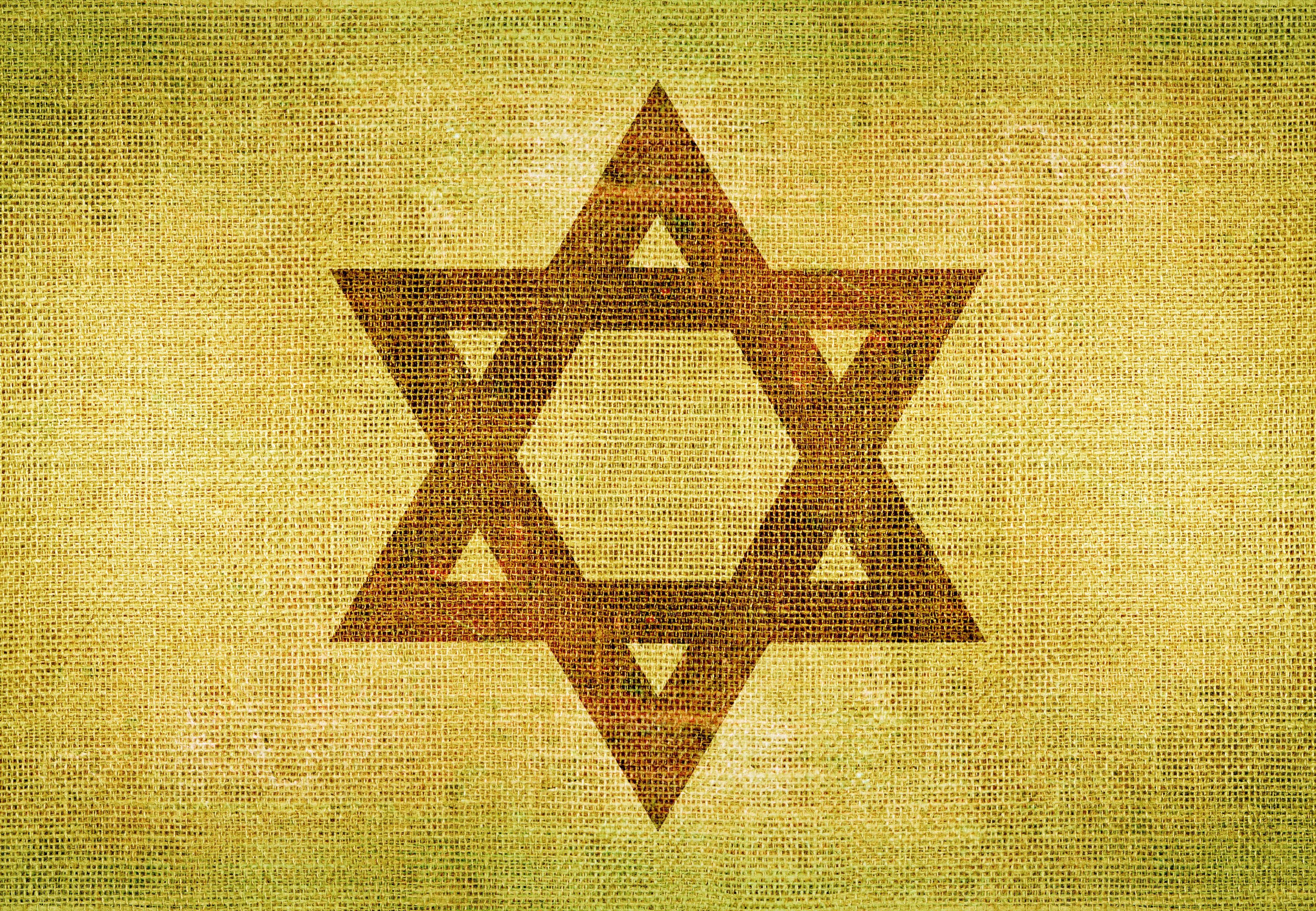 Star of David on Canvas. Jewish Symbol Background Illustration.