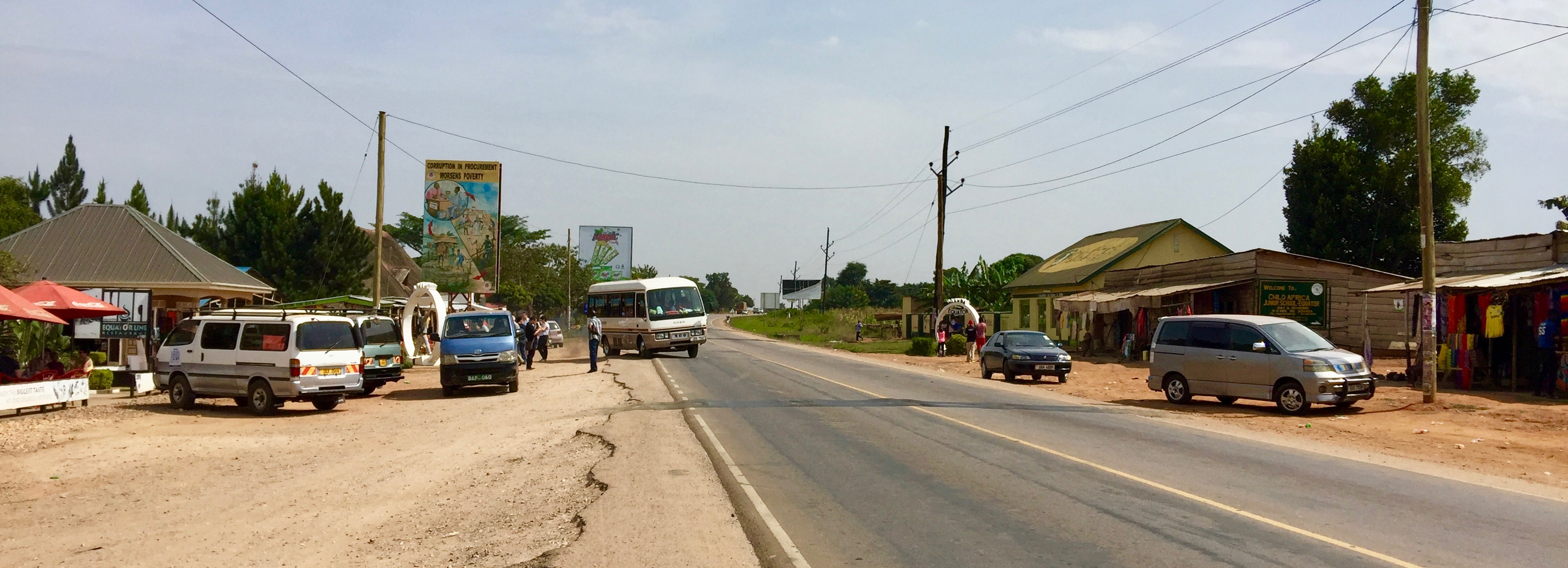 Memories of a beautiful Equator on Kampala-Masaka Highway